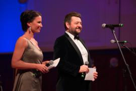 Moderátoři plesu, Gabriela Partyšová a Michal Hudák |foto Martin Zeman