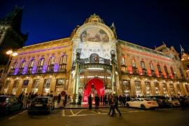 Obecní dům v Praze před začátkem galavečera Česko-Slovenský ples 2020