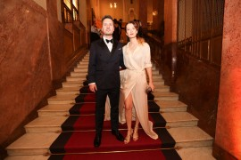 Herečka Marika Šoposká s manželem filmovým zvukařem Petrem Čechákem